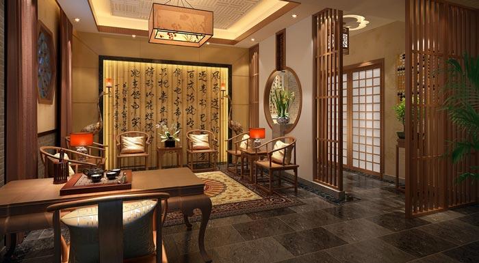重庆茶楼装修设计_典雅清新的重庆现代中式茶楼装修设计_沈阳装