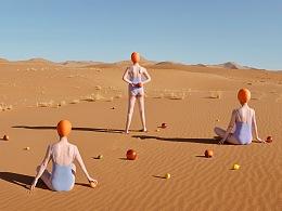 食物在沙漠做著超現實的事