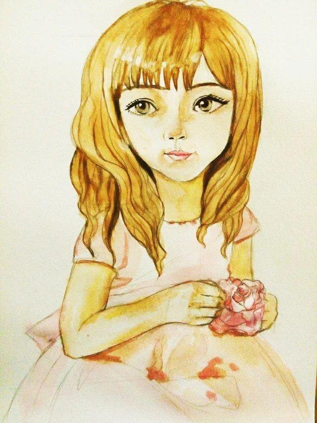 穿裙子的女孩|儿童插画|插画|sandymao