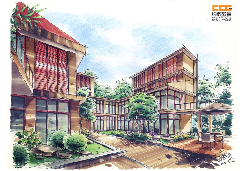 第三阶段:结构层次 正方形的切分 建筑楼层框架的理解与画法  第四