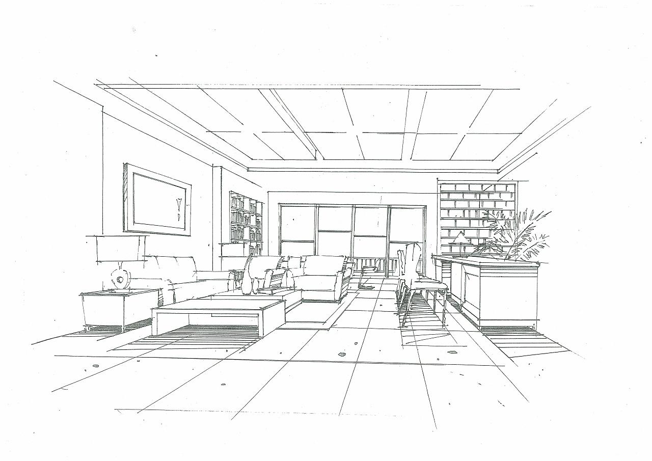 室内空间手绘作品|空间|室内设计|198948 - 原创作品