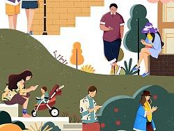 手机时代系列插画