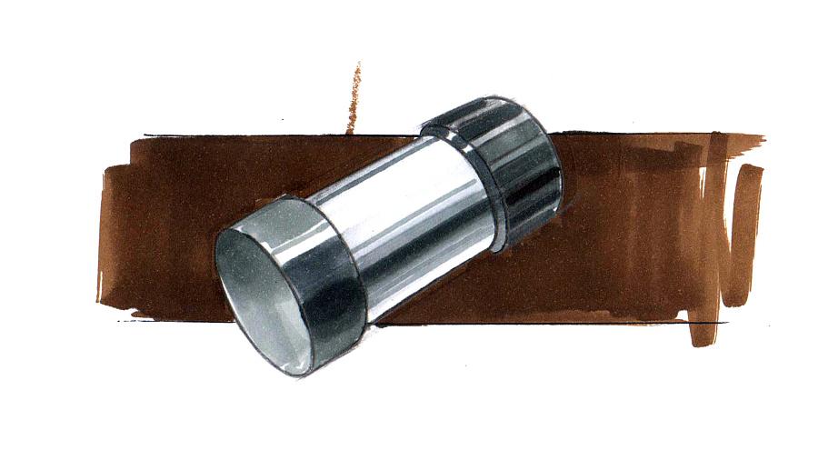 产品手绘技法表现|其他工业/产品|工业/产品|木器008