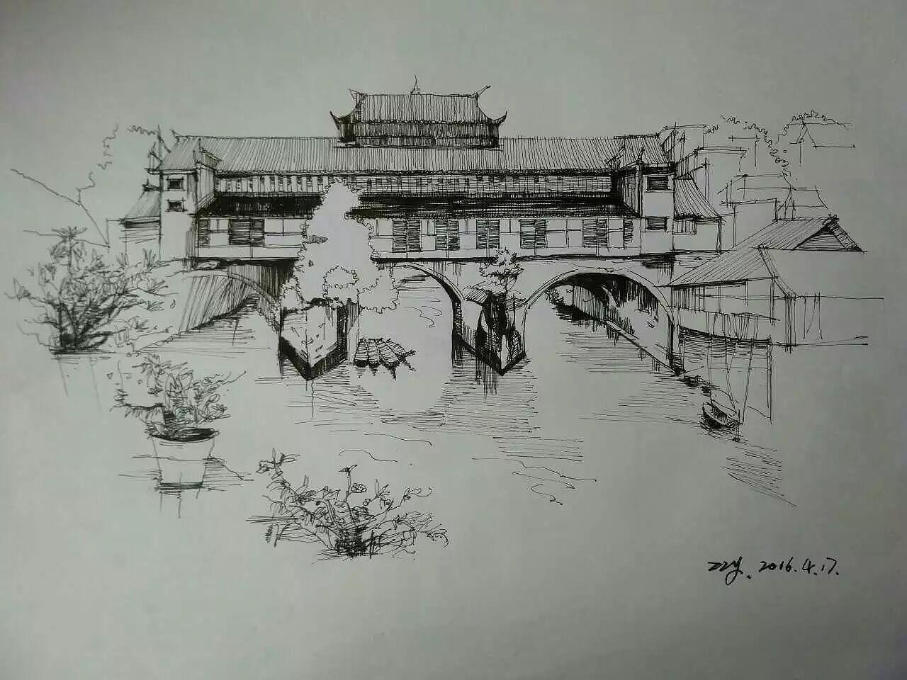 建筑设计 及室内设计 手绘表现图