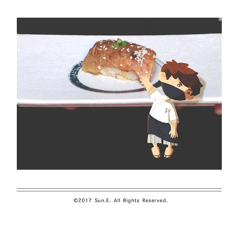 实物手绘|寿司小弟