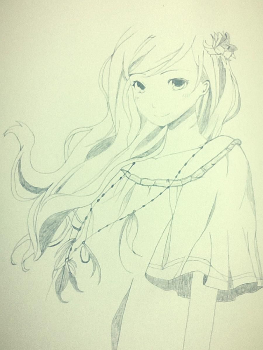 檀香味头发的女孩