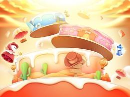 【零一】京东17周年618互动叠蛋糕设计