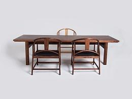 原木系列:多功能的一张原木桌