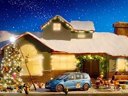 """创意定格—途安L小黄人圣诞节""""鹿出没之圣诞奇遇记"""""""