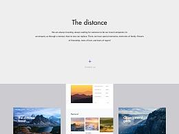 A travel service website