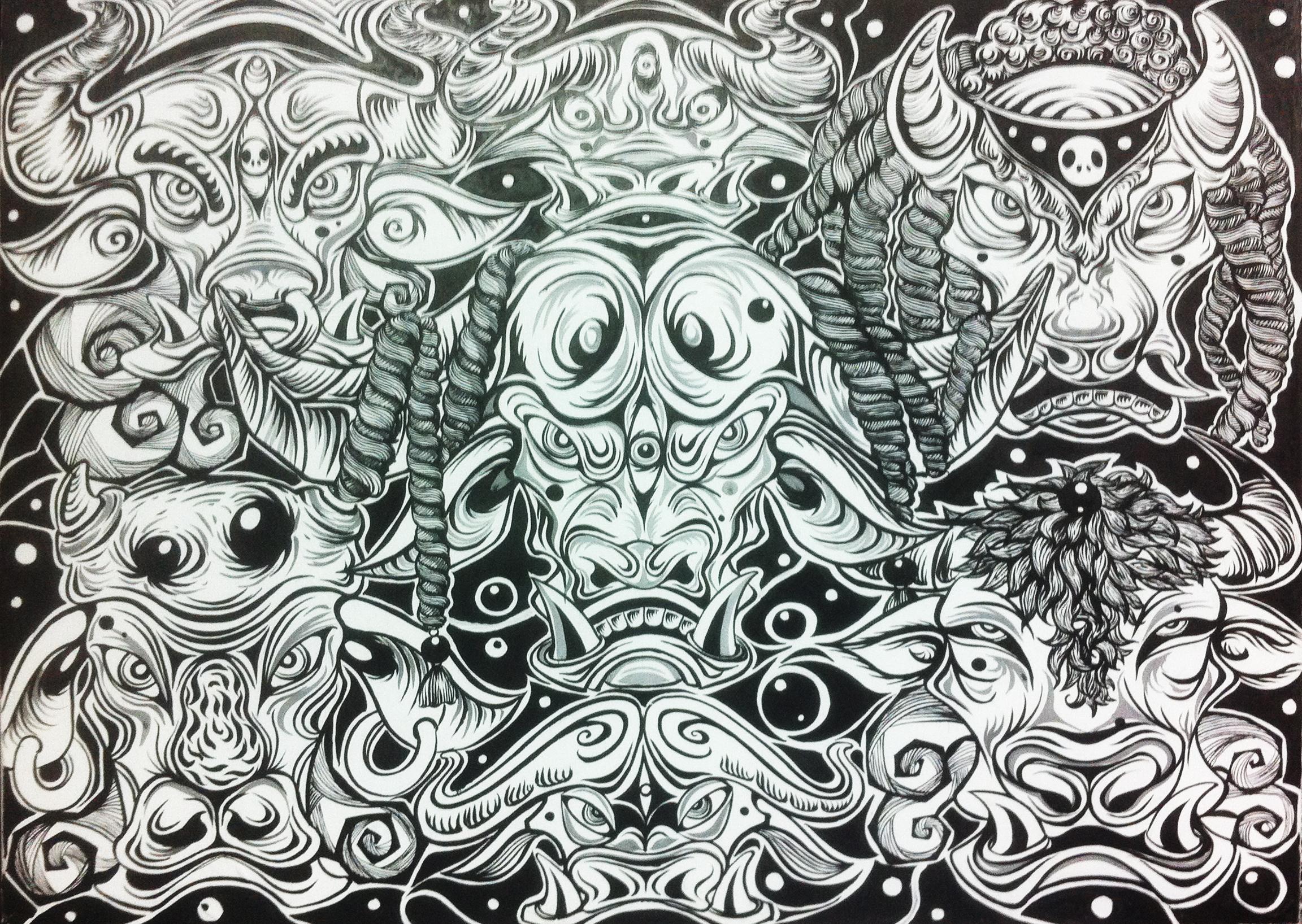 手绘装饰插画