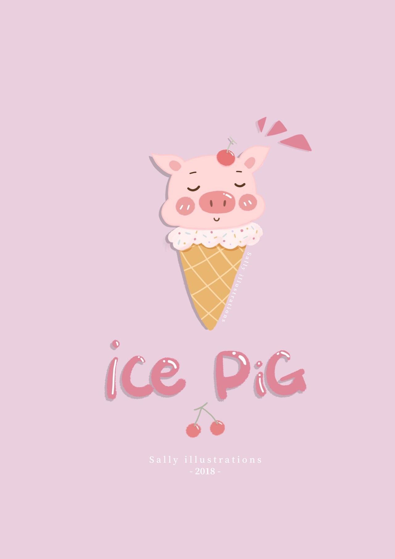 甜筒猪|插画|商业插画|一点也不萌萌哒了 - 原创作品