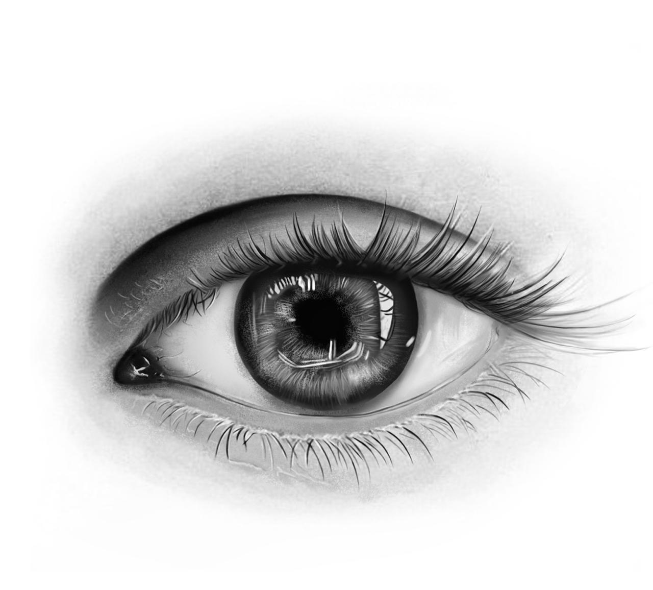 手绘练习-眼睛