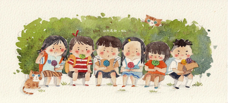 小朋友春游简笔画-我童年里的那首歌图片