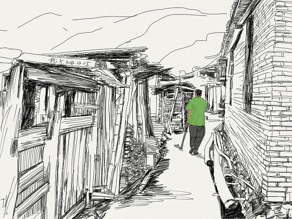 简单家乡图片手绘