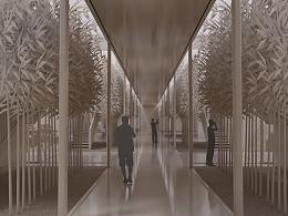 建筑小案的模型风格渲染