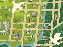 龙岩水晶澜庭房地产手绘地图