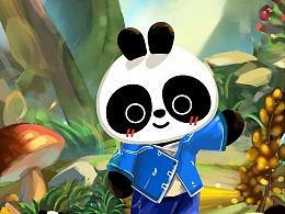 巴布熊猫-2018贺卡