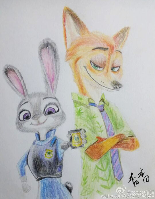 兔朱迪和狐尼克|单幅漫画|动漫|broken