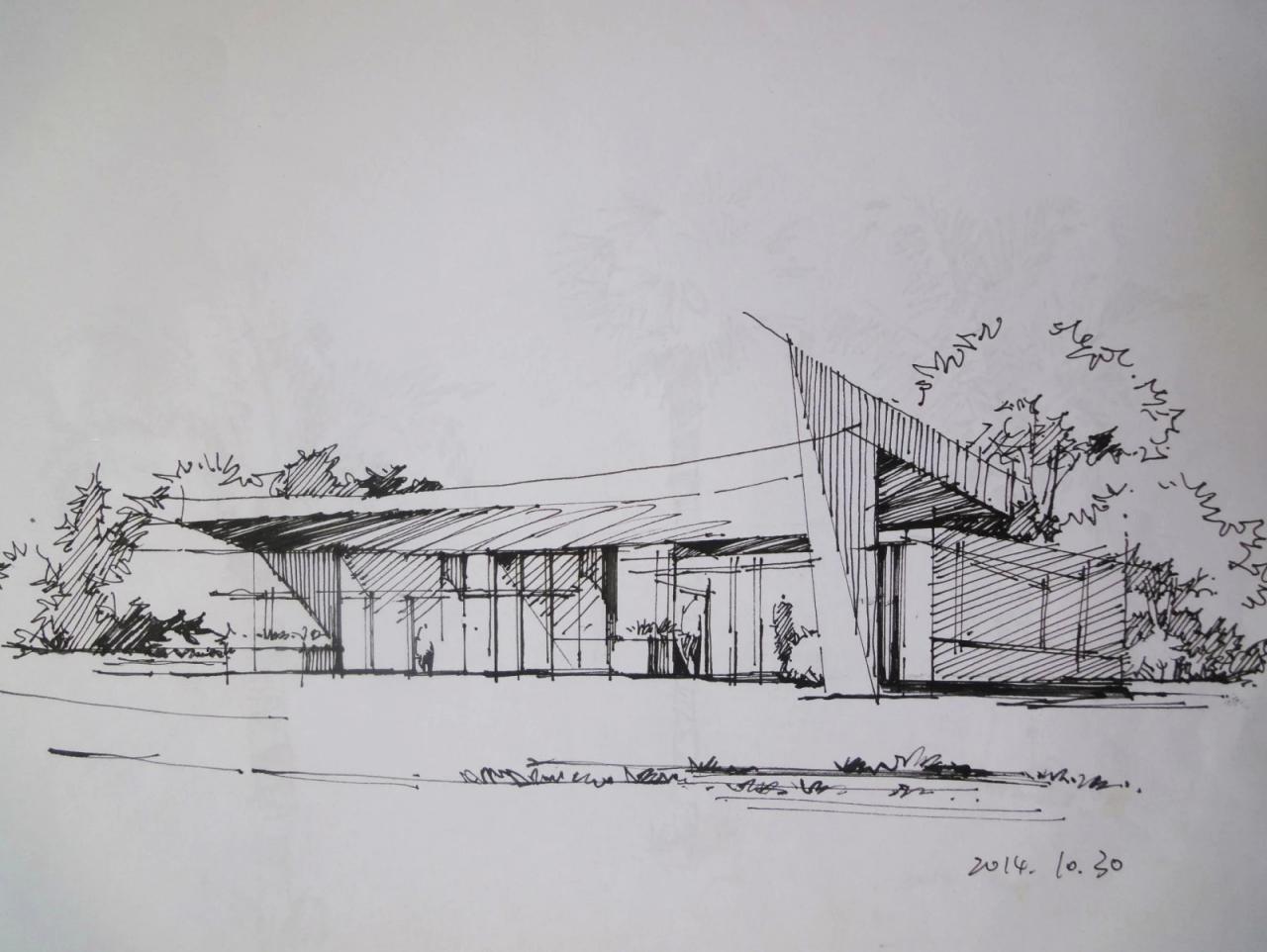 建筑设计 及室内设计 手绘表现图|空间|建筑设计|粉黛