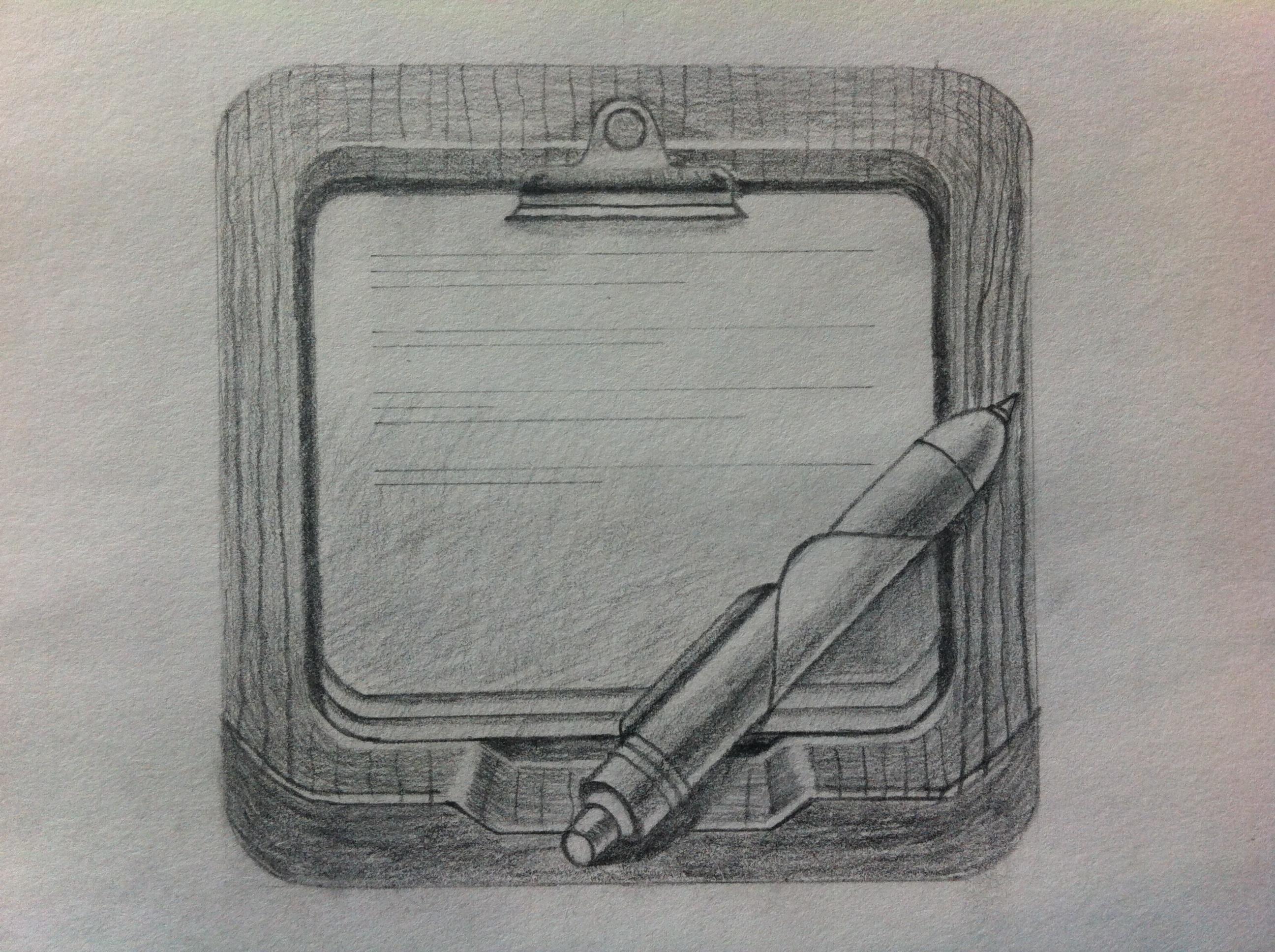 砚台简笔画手绘
