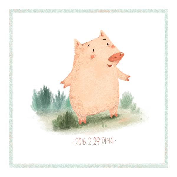 插画每日一图ps电脑手绘小动物3