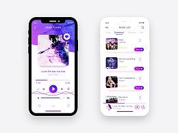 iphone-x音乐界APP面练习