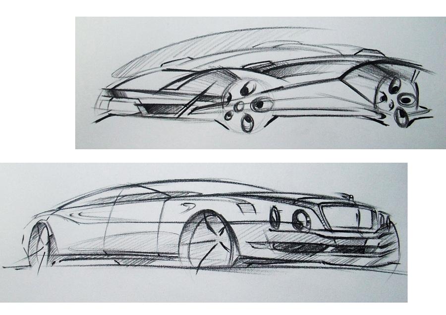 产品手绘 汽车|彩铅|纯艺术|李家麦兜兜 - 原创设计