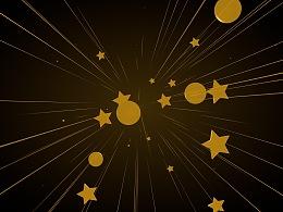 圣诞主题素材坠落的星星 falling stars
