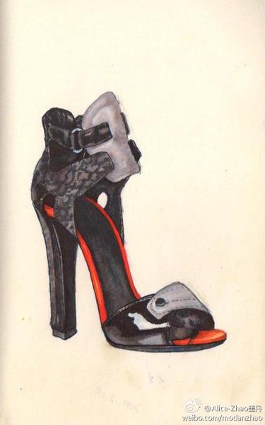 时尚手绘插画--鞋子篇