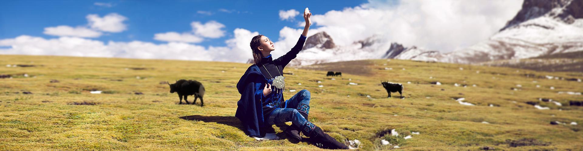 电商裂帛首页海报设计西藏 摄影 人像 王小天儿