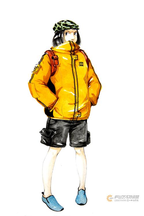 服装马克笔手绘系列——黄哲老师