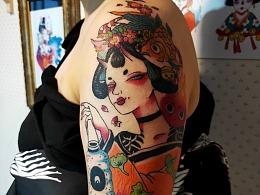 原创纹身图案设计(纹身气质女)日系风
