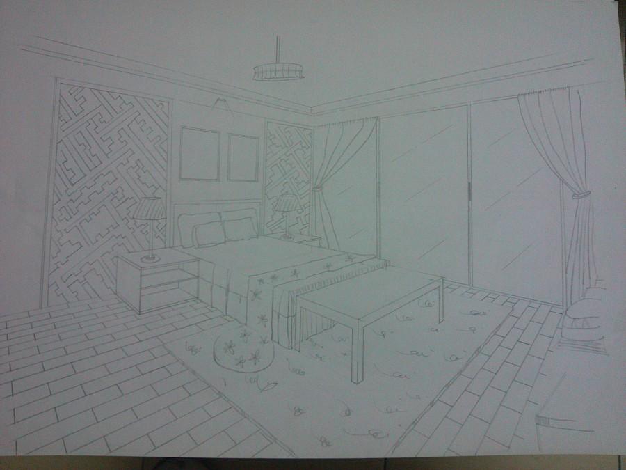 一组室内手绘图|其他|其他|莫忘初心0719 - 原创设计