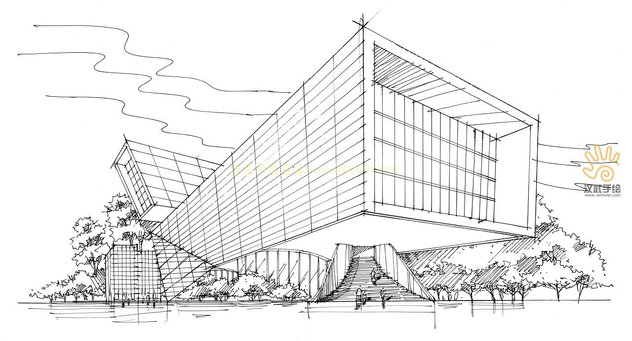 双十一建筑手绘作品|空间|建筑设计|whhwsh - 原创