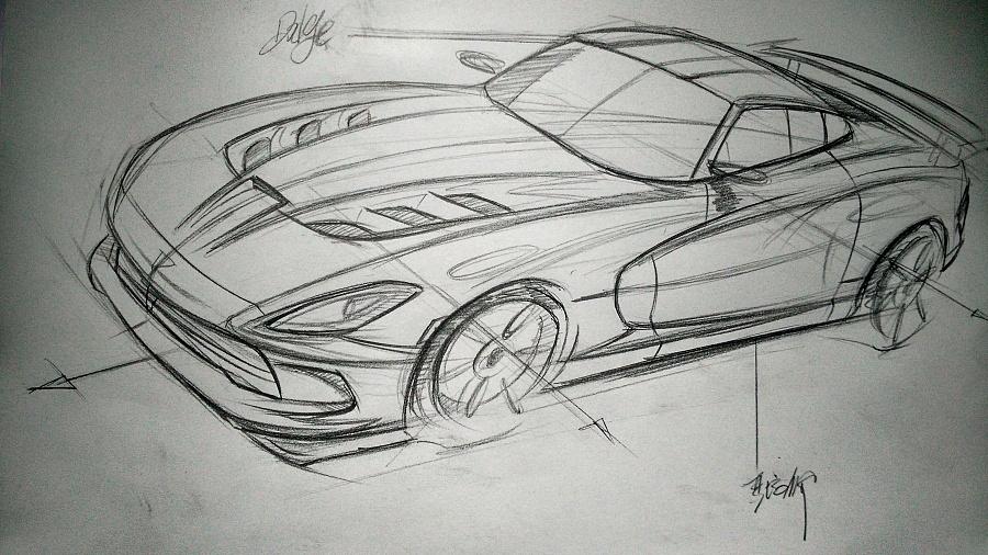 原创作品:汽车手绘