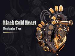 Black Bold Heart