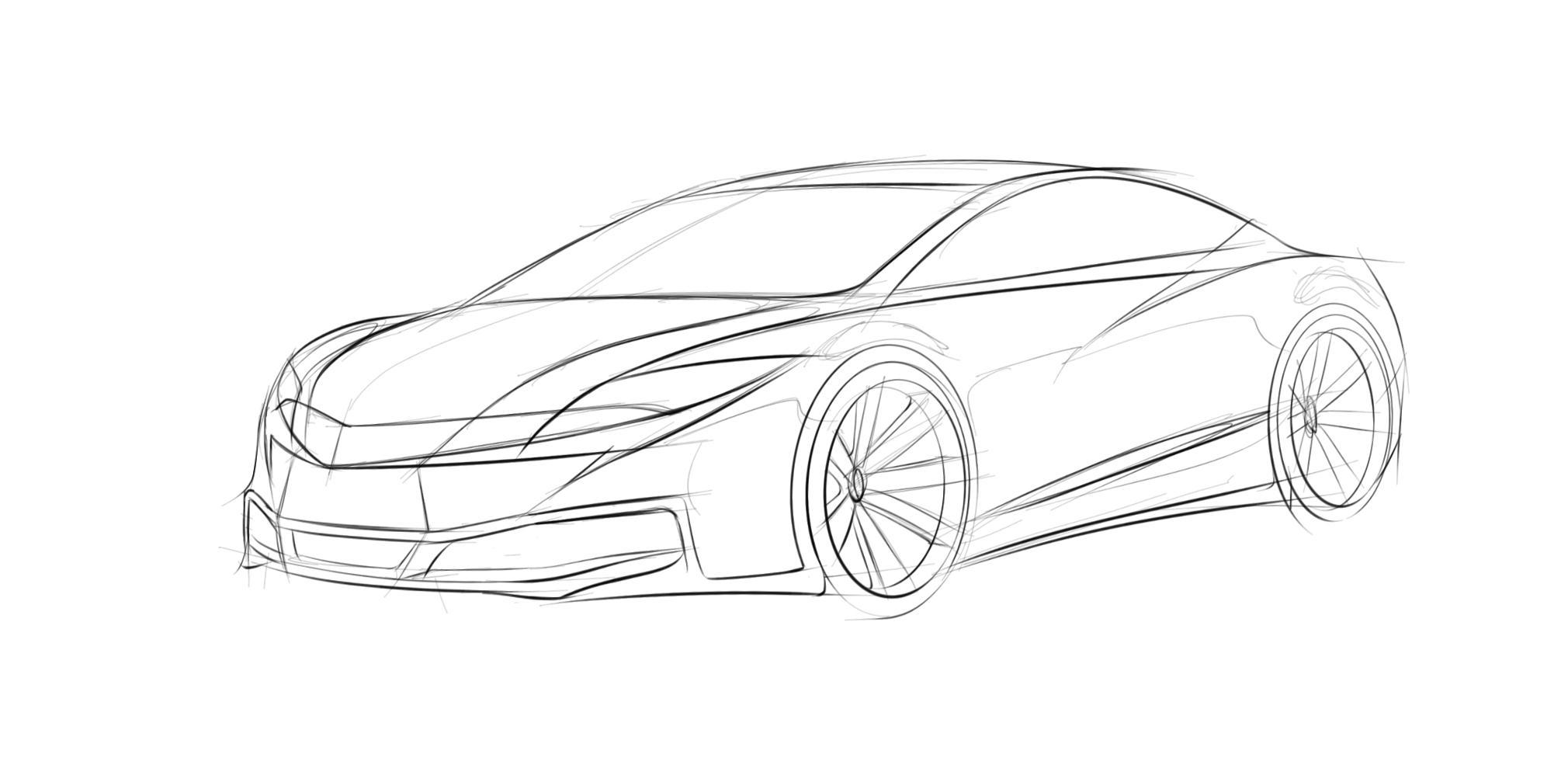 原创汽车造型设计表现手绘教程|工业/产品|交通工具