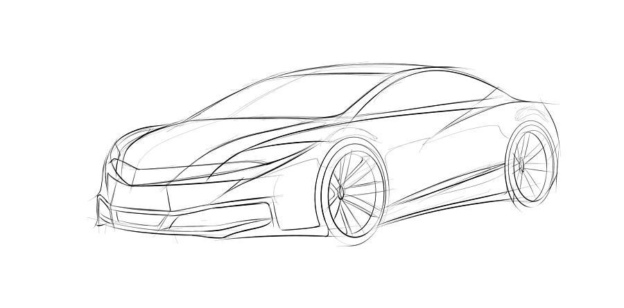 原创汽车造型设计表现手绘教程|交通工具|工业/产品