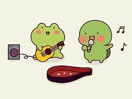 蛙蛙龟龟表情包