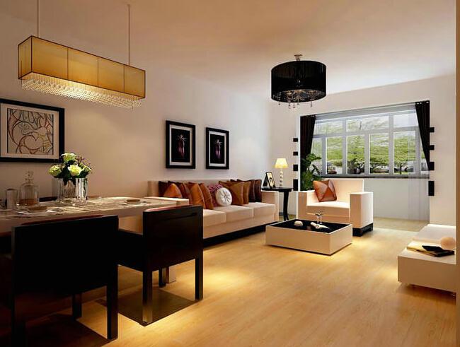 【长九中心装修】长九中心现代简约风格两居室装修图