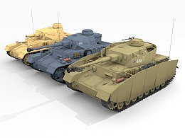 Pzkpfw IV series 二战德国四号中型坦克主要型号合集