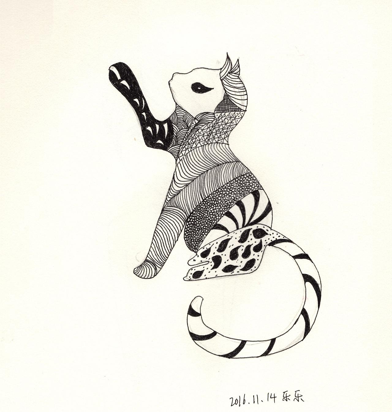 手绘-黑白画