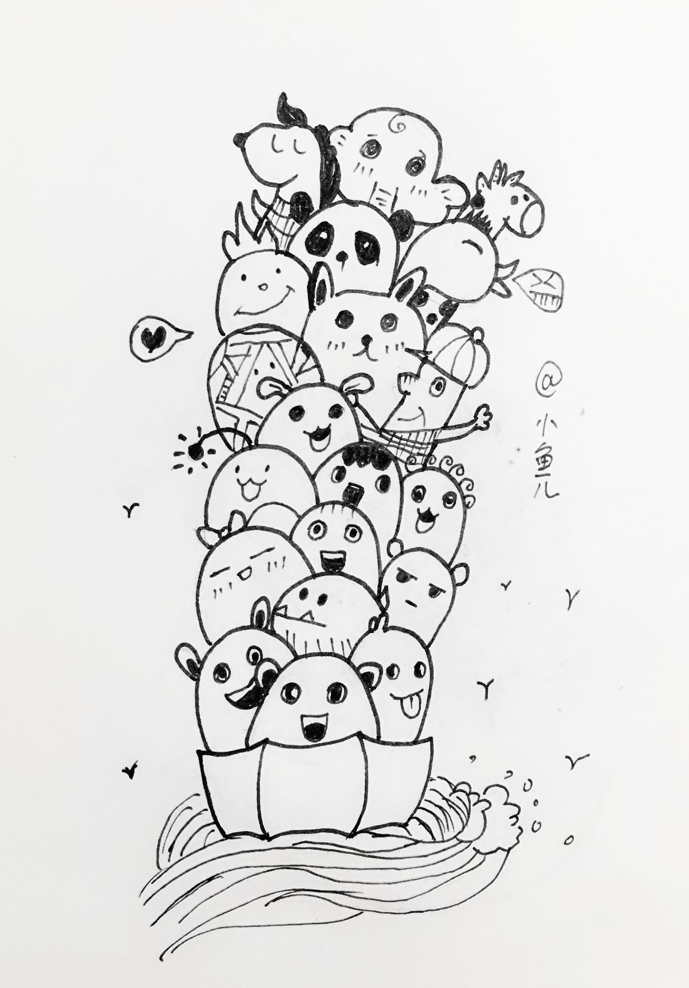黑白插画手绘练习|插画|插画习作|jcyjing - 原创作品