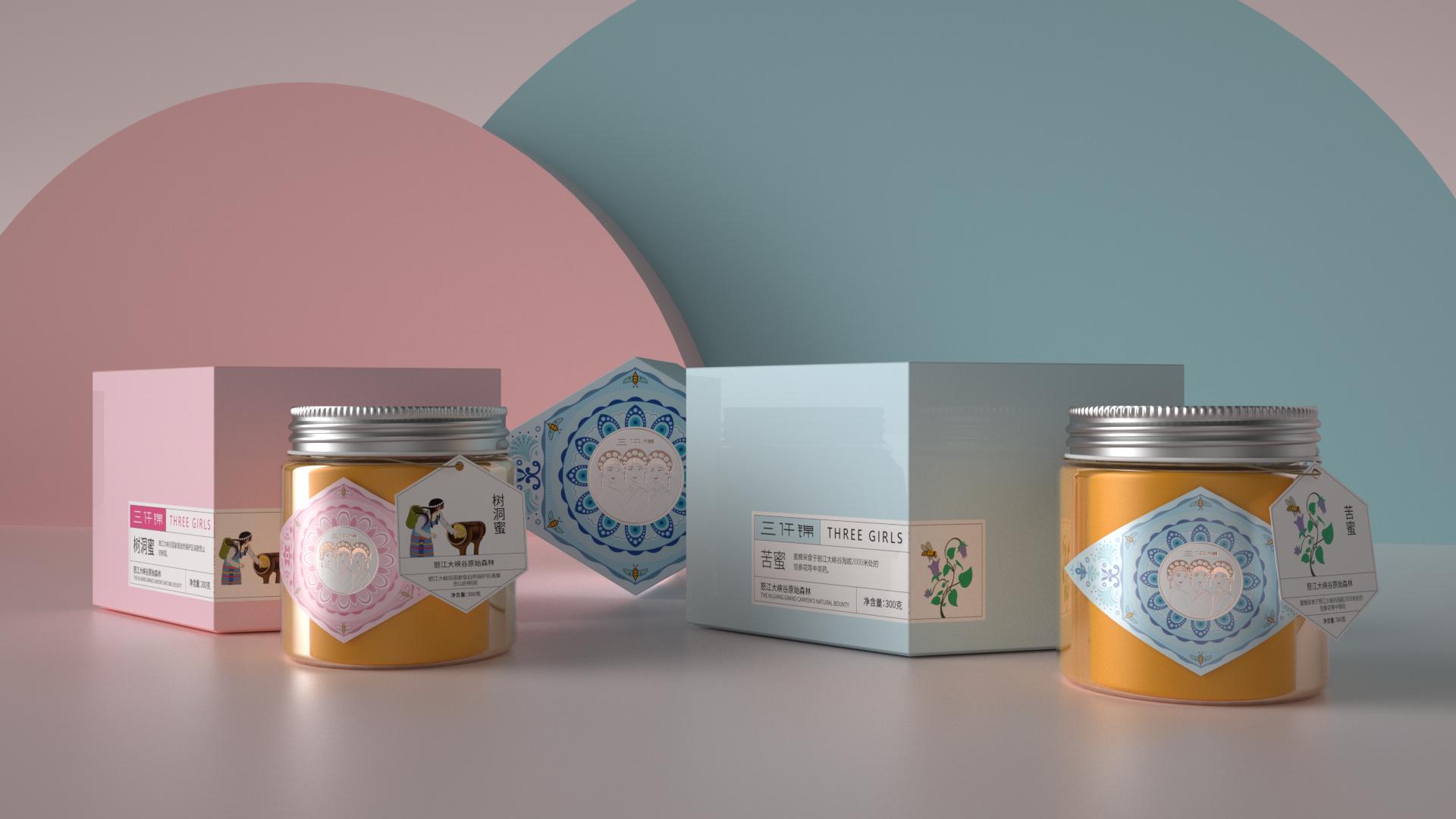 网上蜂蜜广告方案_蜂蜜包装设计案例 平面 包装 三鹰堂作案团伙 - 原创作品 - 站酷 ...