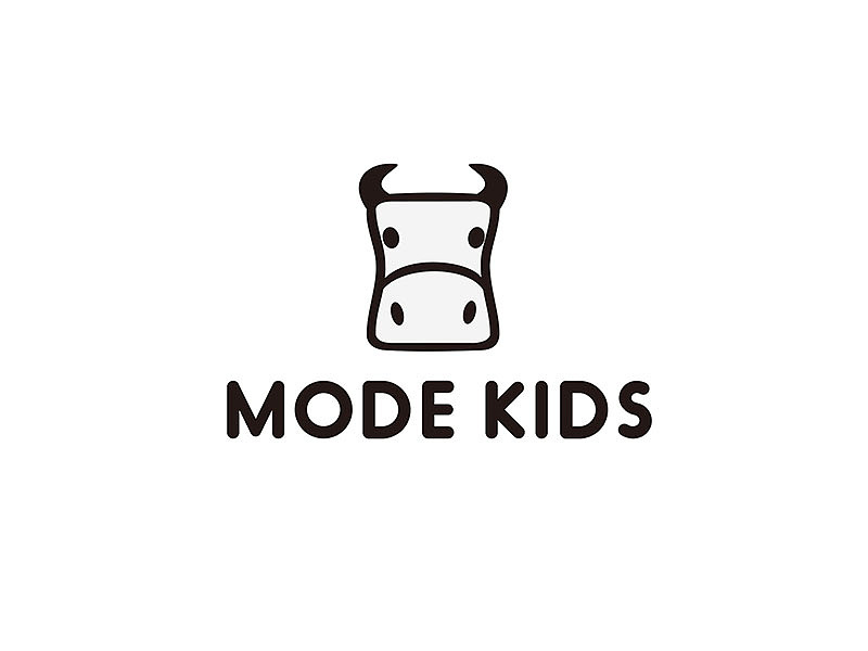 mode kids logo design 标志logo设计|平面|标志|画室图片