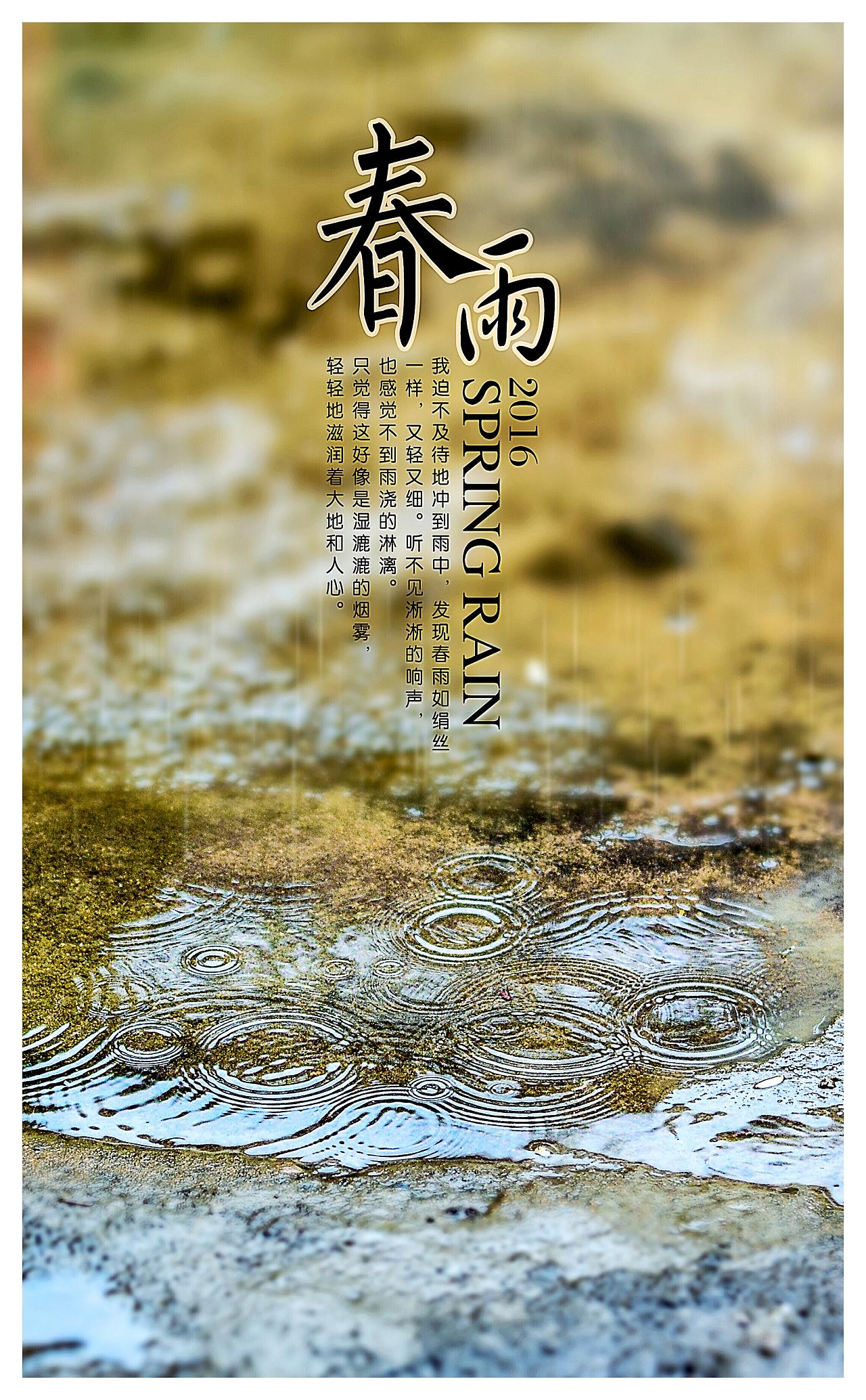 �r,_小雨淅淅沥沥的下  屋檐下的雨 水滴特写 复苏的木苔 木苔特写 春雨