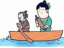 #小矛毁童年#刻舟求剑的故事,真的,原版。 