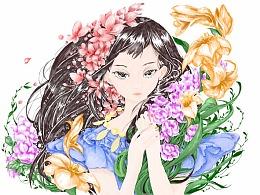 手绘填色【仙女3】