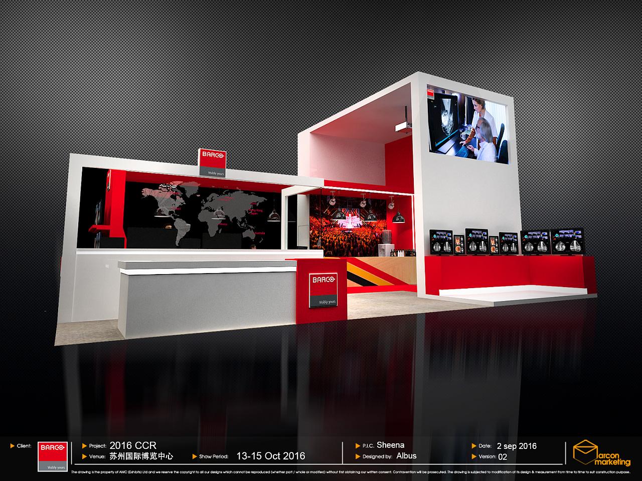 展位设计方案|空间|展示设计 |_aisin_ - 原创作品